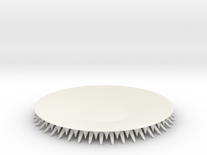 SpikePlate in White Natural Versatile Plastic