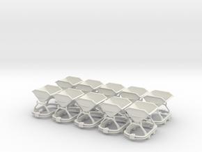 0n16.5 Skip riveted body square axlebox X10 in White Natural Versatile Plastic
