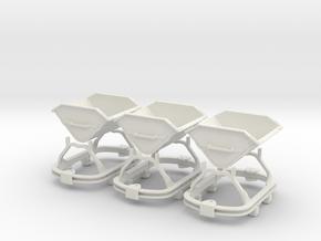 0n16.5 Skip riveted body square axlebox X3 in White Natural Versatile Plastic