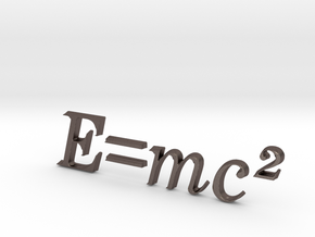 E=mc^2 3D A in Stainless Steel