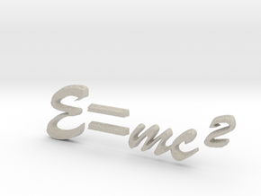 E=mc^2 3D B in Natural Sandstone