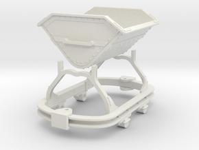 0n16.5 Skip riveted body round axlebox  in White Natural Versatile Plastic