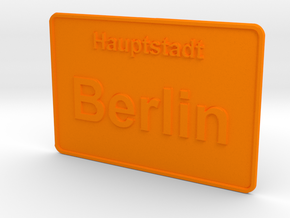 Hauptstadt Berlin in Orange Processed Versatile Plastic