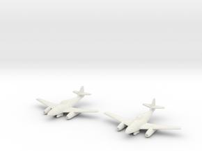 1/144 Messerschmitt Me-262A-2a (x2) in White Natural Versatile Plastic