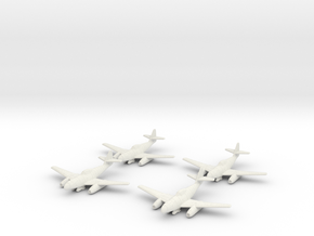1/144 Messerschmitt Me-262A-2a/U2 (x4) in White Natural Versatile Plastic