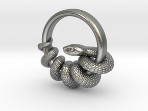 Reverse Snake Ring in Natural Silver