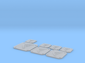Scimitar Icon Plates 001 in Smooth Fine Detail Plastic