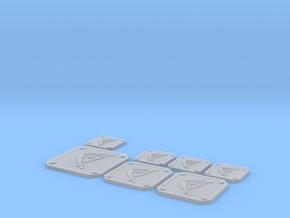 Scimitar Icon Plates 001 in Smooth Fine Detail Plastic