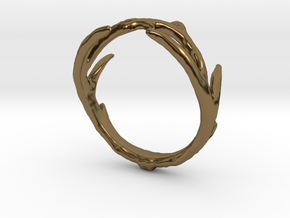 Antler Ring in Polished Bronze