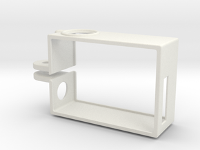 Rugged GoPro Hero3 vertical frame in White Natural Versatile Plastic
