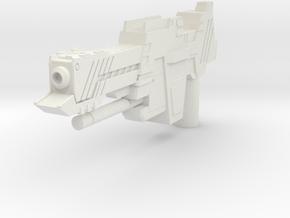 Medium Small Gun  in White Natural Versatile Plastic