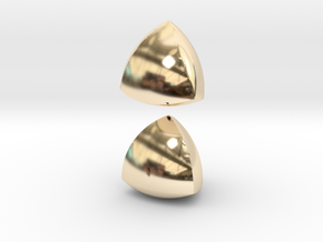 Jumbo (4cm) Meissner Solids in 14K Yellow Gold