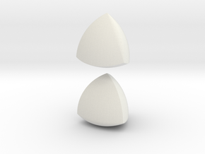 Jumbo (4cm) Meissner Solids in White Natural Versatile Plastic