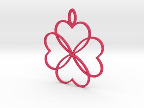 Shakti Flower Pendant in Pink Processed Versatile Plastic