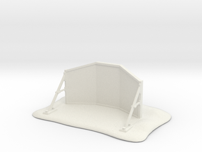 Blast shield wall warhammer in White Natural Versatile Plastic
