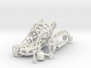 Alien Tattoo Gun in White Natural Versatile Plastic