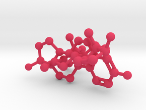 Testosterone Estrogen molecules crosslinked in Pink Strong & Flexible Polished