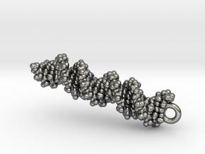 DNA Molecule Earring / Pendant Silver in Premium Silver