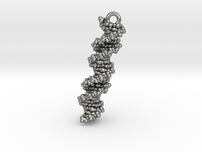 DNA Molecule Earring / Pendant Silver in Natural Silver