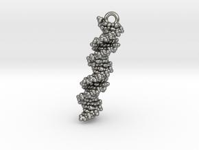 DNA Molecule Earring / Pendant Silver in Natural Silver