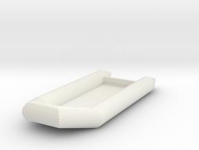 Zodiac Boat 1:100 (type 3) in White Natural Versatile Plastic