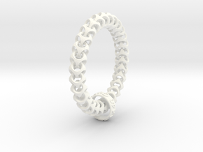 Cubichain Bracelet (Multiple sizes) in White Strong & Flexible Polished: Extra Small