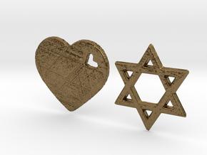 Love Israel 3D Design in Natural Bronze