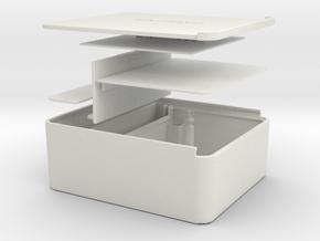 Tabaco box in White Natural Versatile Plastic
