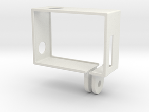 GoPro Hero3 Frame (reversed, connector at lens) in White Natural Versatile Plastic