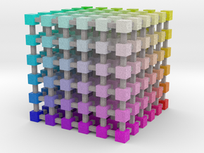 Web Safe Color Cube: 3.5 inch in Full Color Sandstone