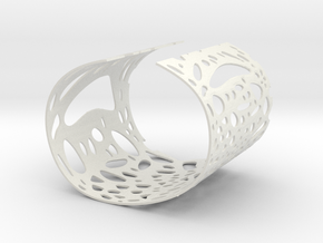 """Cuff-3"""" in White Strong & Flexible"""
