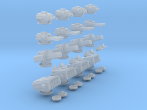 6mm Mixed Turrets in Smooth Fine Detail Plastic