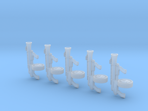 Angry Automatic Blunderbus (x5) in Smooth Fine Detail Plastic