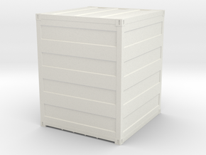 Container 10 ft, scale 1:87 in White Strong & Flexible