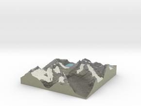 Terrafab generated model Wed Jun 25 2014 15:35:15  in Full Color Sandstone
