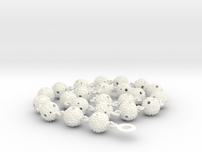 Textured Ball Necklace - 56cm in White Processed Versatile Plastic