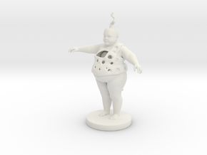Fat Child in White Natural Versatile Plastic