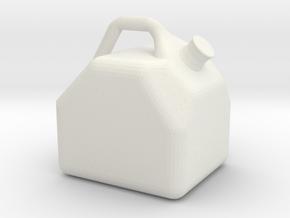 Miniature Gas Can Gasoline Jug 1:10 Scale RC Rock  in White Natural Versatile Plastic