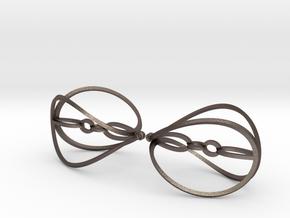 Hypaerial Earrings in Polished Bronzed Silver Steel