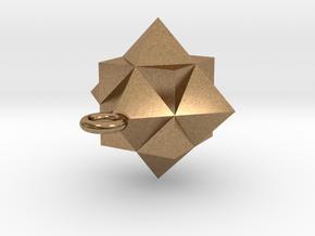 Gamma Star Ornament in Natural Brass