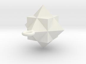 Gamma Star Ornament in White Natural Versatile Plastic