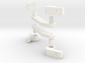 Straight Hinge Assembly (Left & Right) in White Processed Versatile Plastic