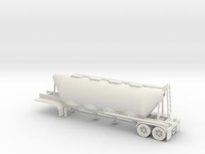 HO 1/87 Dry Bulk Trailer 02 (bigger tank) in White Natural Versatile Plastic
