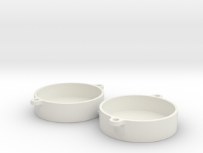 Cap-Cover-TWO-2 in White Natural Versatile Plastic