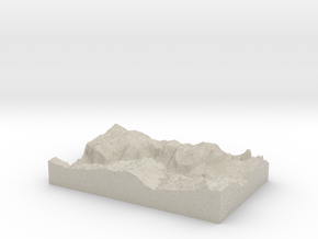 Model of Yosemite Village in Natural Sandstone