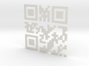 Wien Vienna 3D QR Code Puzzle 120mm in White Natural Versatile Plastic