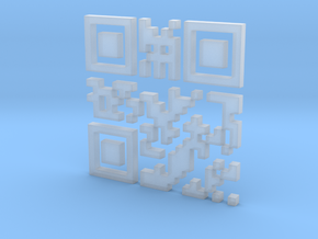 Wien Vienna 3D QR Code in Smooth Fine Detail Plastic