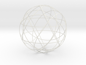 Stripsphere 12b, large in White Natural Versatile Plastic
