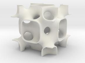 Fluoritesolid7 in White Natural Versatile Plastic