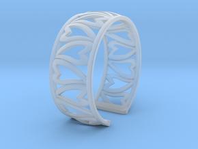 HeartBracelet in Smooth Fine Detail Plastic